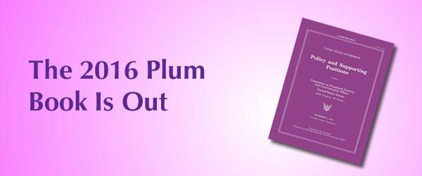 Plum Book 2016