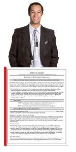 Man in Suite with Resume