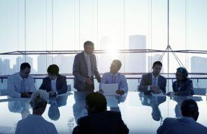 Boardroom Meeting with Several People