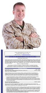 Military Man with Resume