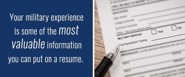 military service as job experience