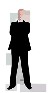 Clipart of Executive Standing