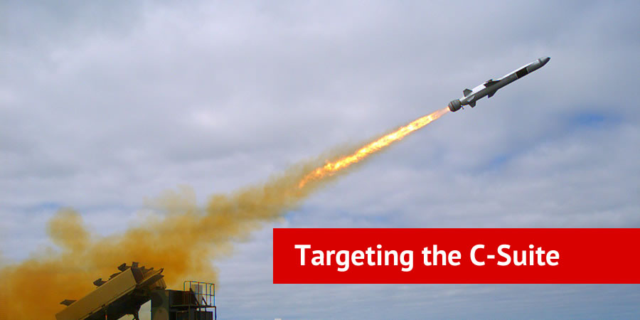Missile launching with text overlay Targeting The C-Suite
