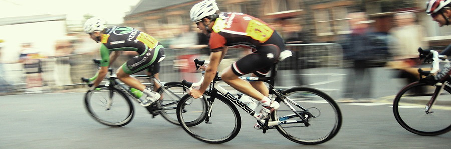 Man In Bicycle Race