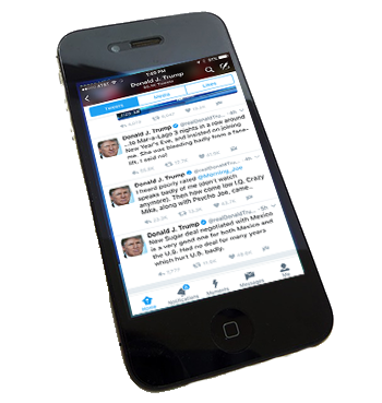 Iphone With Trump Tweets