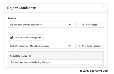 Automated Candidate Rejection Email